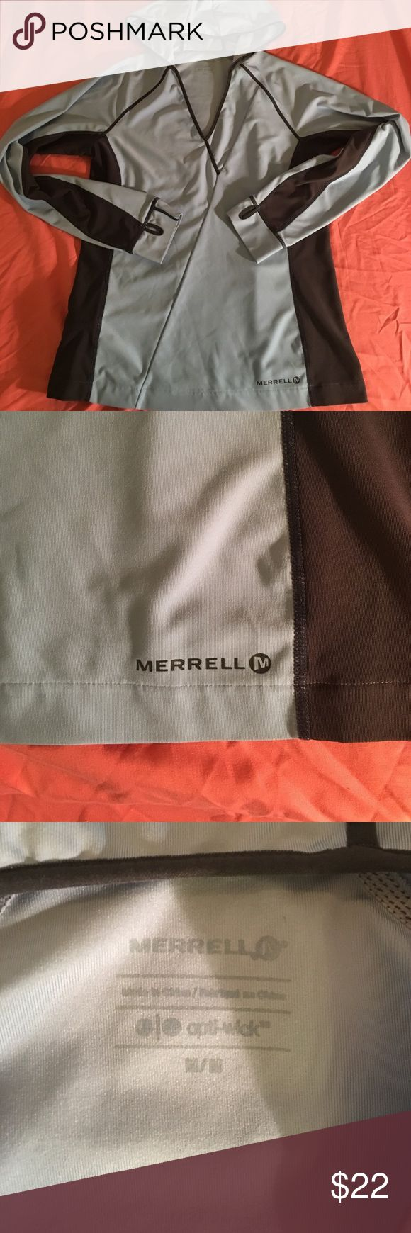 Merrell hoodie Grey and blue women's merrell hoodie size M Merrell Tops Sweatshirts & Hoodies