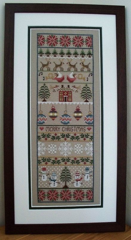 Merry Christmas Cross Stitch Sampler PDF Chart. £5.00, via Etsy.