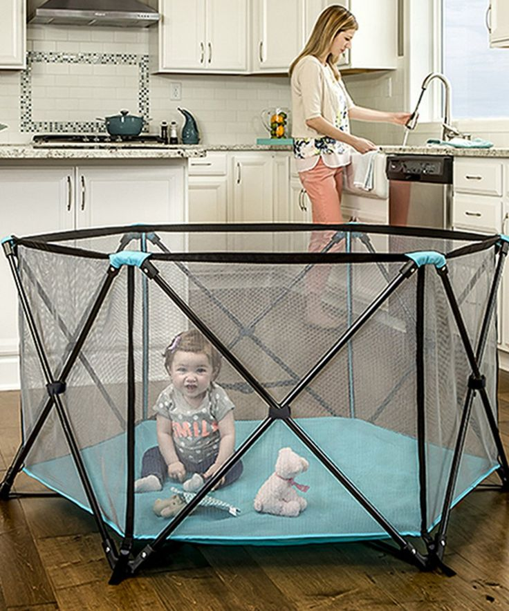 Take a look at this My Play Six-Panel Indoor/Outdoor Portable Playpen today!