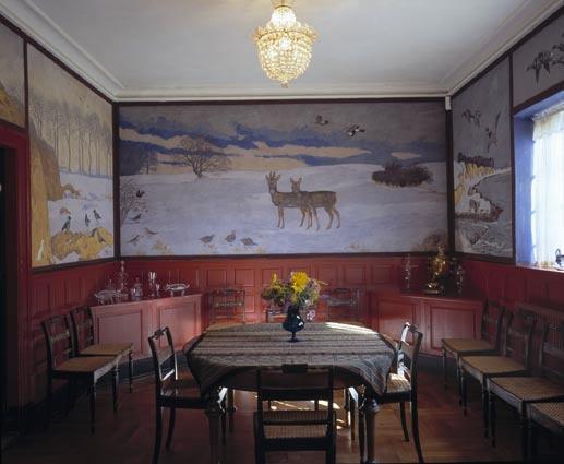 Mural by danish artist Johannes Larsen. his own dining room. Johs. Larsens smukke spisestue i huset i Kerteminde