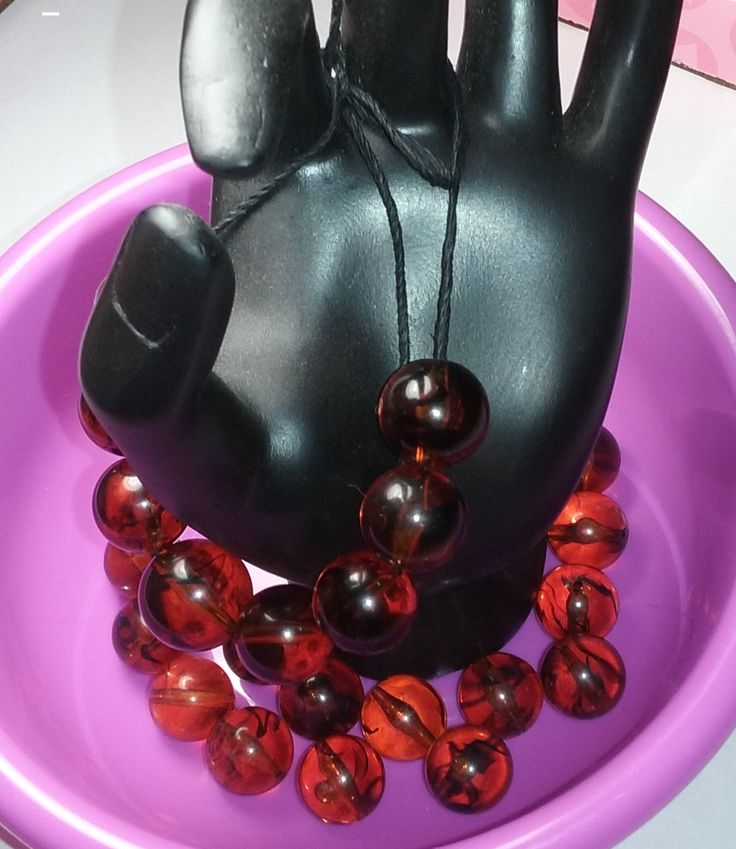 Vintage Cherry Amber Lucite Beads by Oliviarosestone on Etsy
