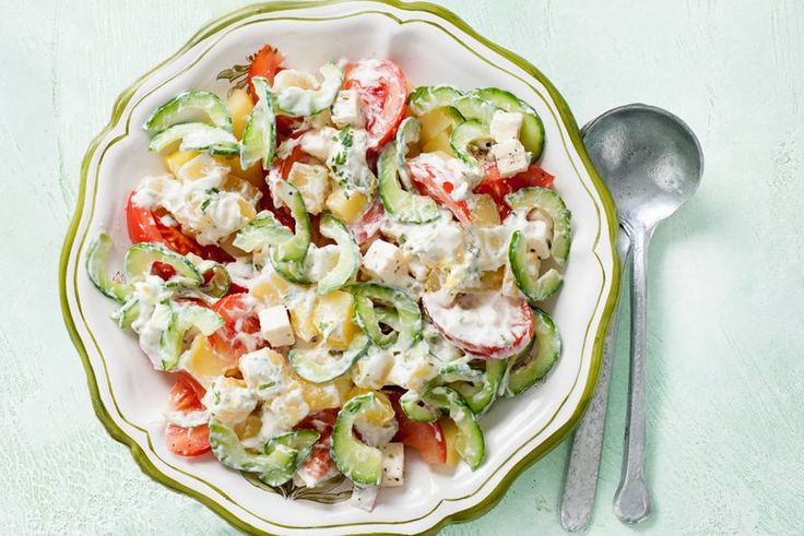 Kijk wat een lekker recept ik heb gevonden op Allerhande! Griekse aardappelsalade