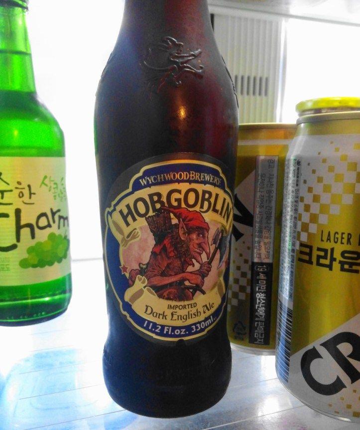 Wychwood Hob Goblin Beer Korea fridge