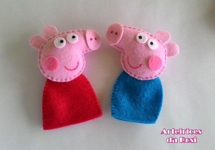Kit de dedoches Peppa Pig