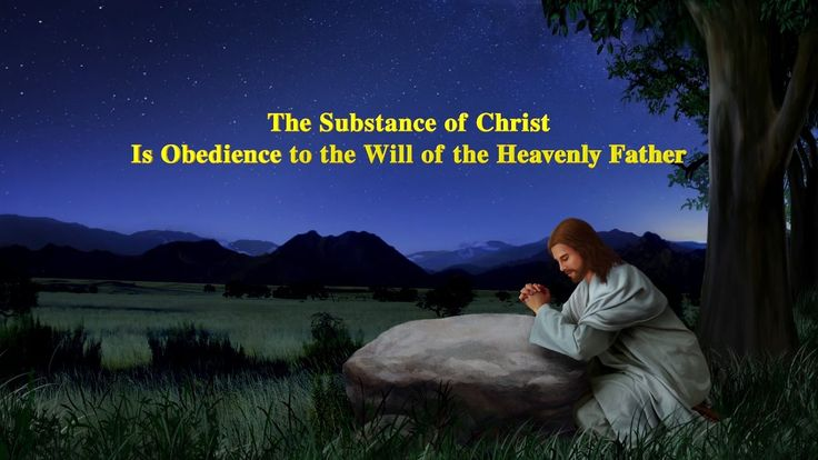 """The Substance of Christ Is Obedience to the Will of the Heavenly Father..."