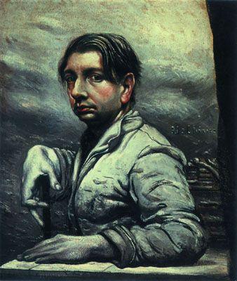 Self Portrait, 1925 by Giorgio de Chirico. Neo-baroque. self-portrait. Private Collection