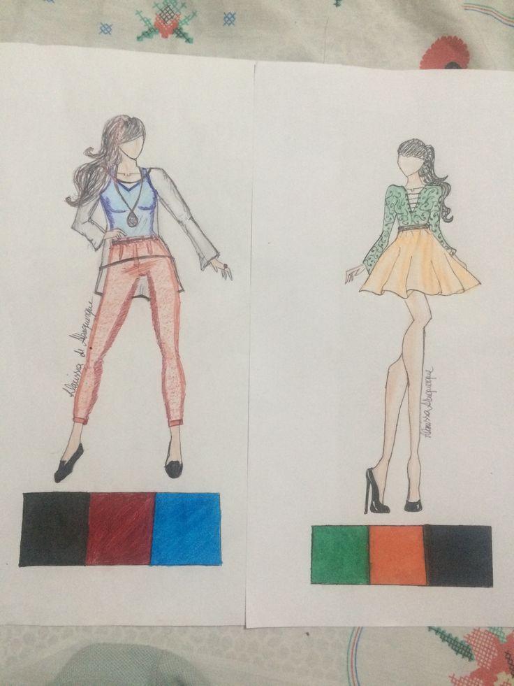  Trabalho A2  Imagem 1   O vermelho representa paixão e força, e o azul já é uma cor fria, que representa equilíbrio e tranquilidade. Pensado para alguém que tem que se dividir entre ser calmo no trabalho e ter paixão e força para criar.   Imagem 2  Alguém que tem um dia a dia agitado e cansativo, o verde representa saúde, juventude está associado ao movimento, e o laranja a alegria e criatividade.