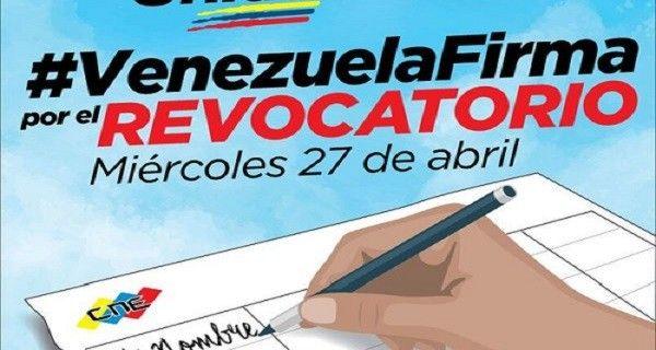 La MUD invitó a la ciudadanía a participar en la recolección de firmas, en miras de alcanzar 1% o más del Registro Electoral (RE), publica el Nacional La m