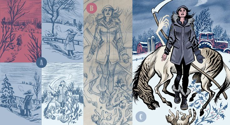 """Cover in progress di """"Revival"""" di Craig Thompson  - come disegna lui la neve nessuno mai -"""