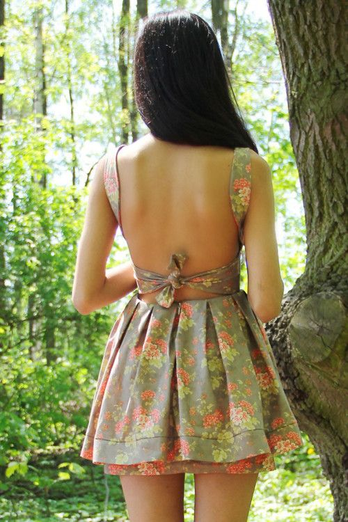 love the back!!: Open Back Dresses, Summer Dresses, Dreams Closet, Backless Dresses, Clothing, Outfit, Shorts Floral Dresses, Backlessdress, Open Back