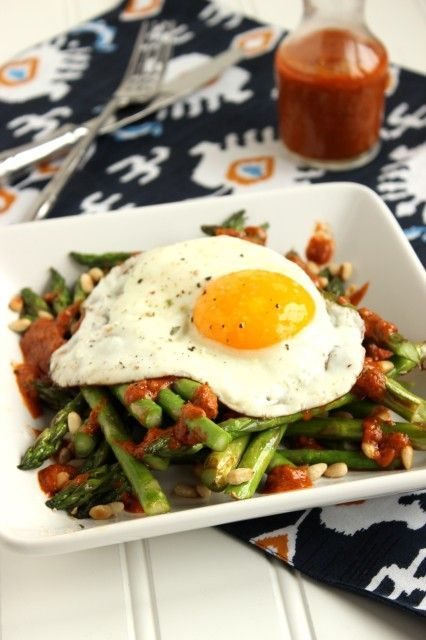 Warm Asparagus Salad with Roasted Tomato Vinaigrette! Learn how to create fat burning meals at www.Mydietfreelife.com