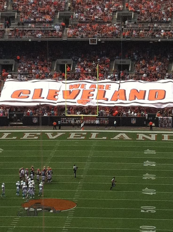 Browns opening day.