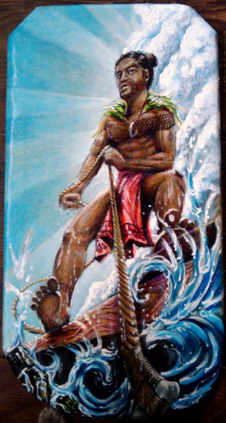 ней бог мауи в искусстве полинезии фото соцсетей