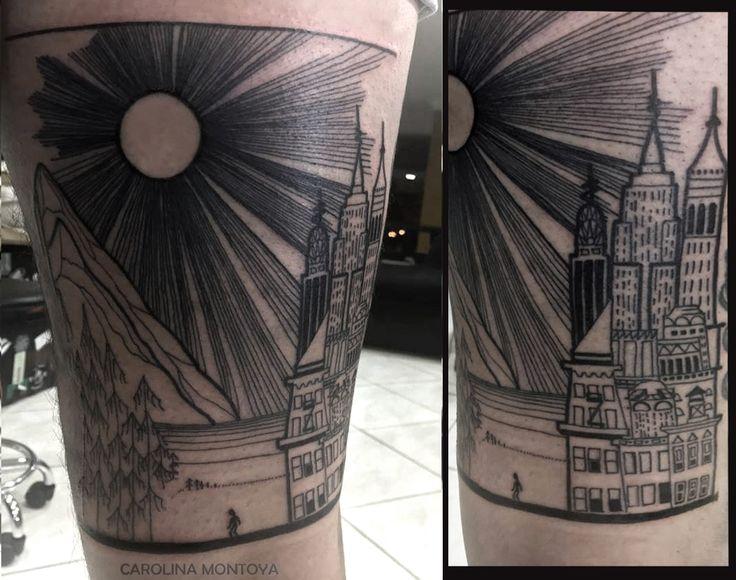 Tattoo by:  Carolina Montoya #lines #linestattoo #tattoo #darkartist #tattoo #ink #trama #engravingtattoo #bold #blackwork #blackworker