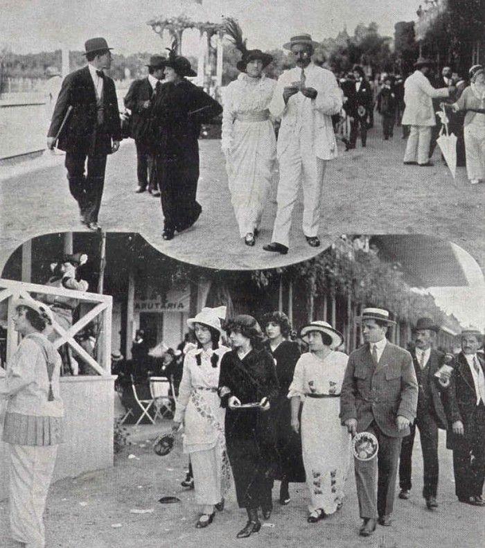 Famílias da elite paulistana se divertem no Prado da Moóca, em 1914