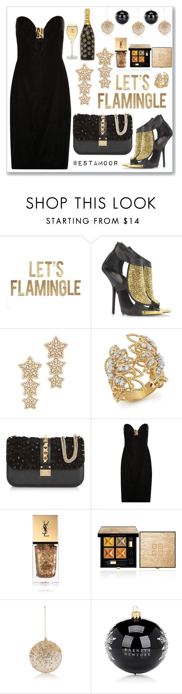 """""""gold"""" by estamoor on Polyvore featuring мода, Giuseppe Zanotti, Kate Spade, Roberto Coin, Valentino, Tom Ford, Yves Saint Laurent, Gold Eagle, Barneys New York и Marc Jacobs"""