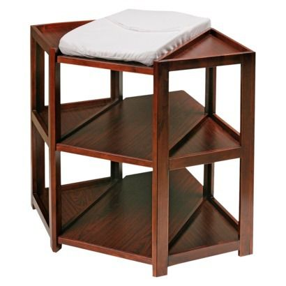 Badger Basket Corner Changing Table - Cherry