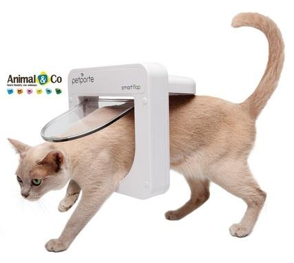 Chatière SMART FLAP à détection de puce - chat - Animal and Co