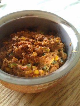 とうもろこしとピーマンのインド野菜カレー