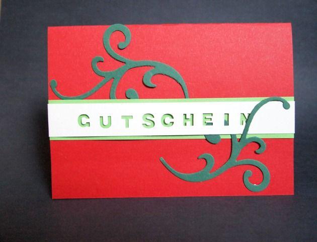 Gutschein, rot, grün, elegant, Weihnachten, Christmas, voucher