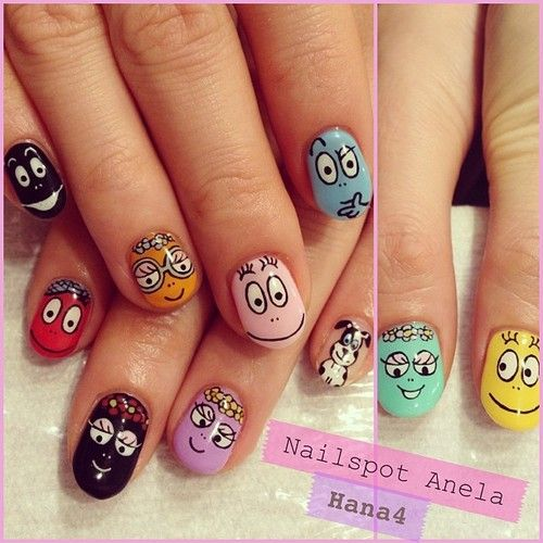 @djkyoko 's NEW NAIL on March.  #nail #nails #nailart #nailarts #nailswag #nailartclub #nailspot_anela #instanail #instanails #handpaint #paint #paintart #barbapapa   #colorful #ネイル #ネイルアート #ネイルアート #バーバパパ #hana4