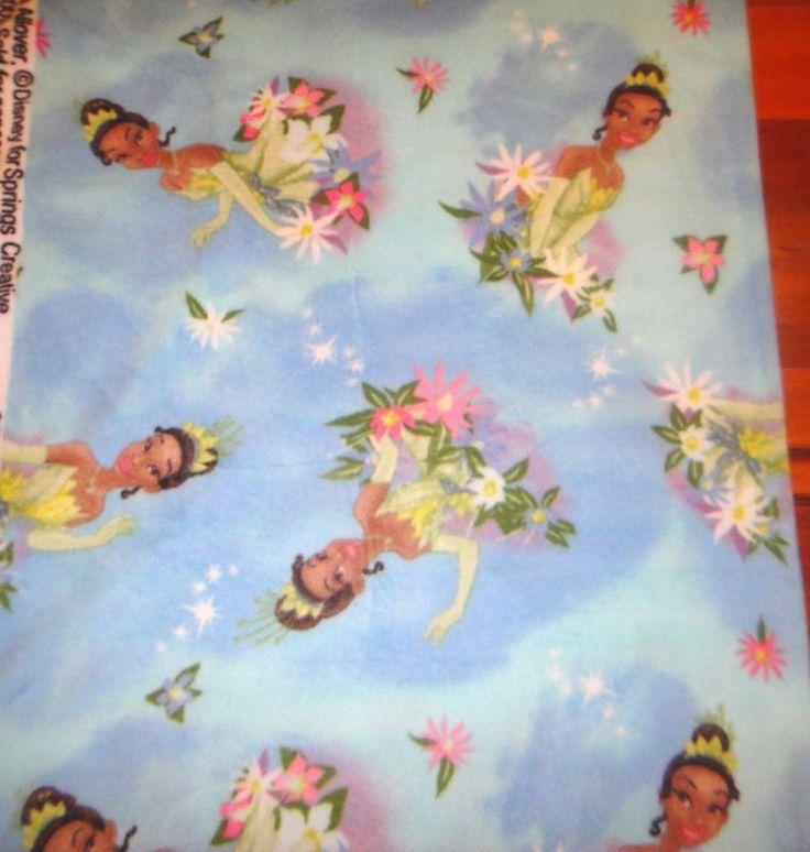 Disney Princess Frog Tiana Fleece Fabric Anti Pill Blue