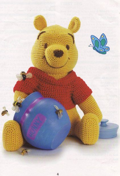 Disneys Pooh and friends 18 doll crochet pattern door TinyWeeTinks