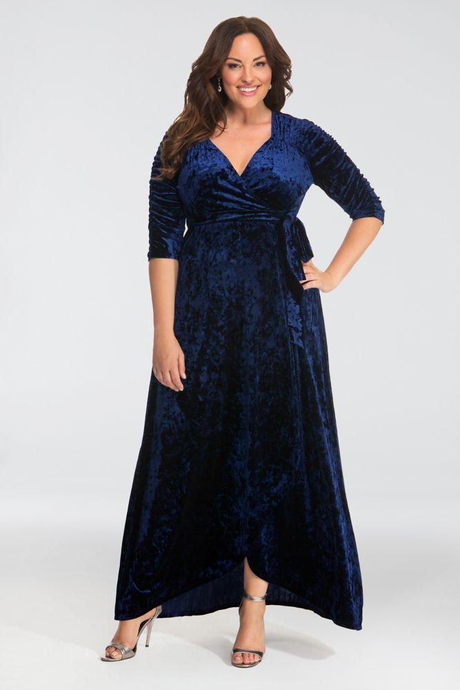 Cara Velvet Plus Size Wrap Dress Style 13183002, Plum, 2X in ...