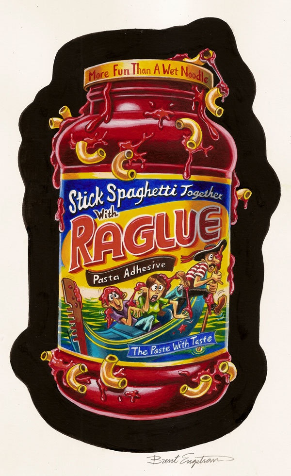 Garbage Pail kids and Wacky Packages by Brent Engstrom, via Behance