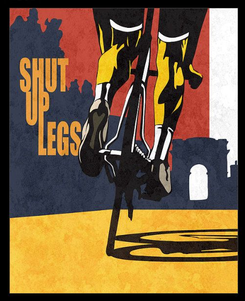 Retro styled stencil cycling Tour de France by sassanfilsoof.