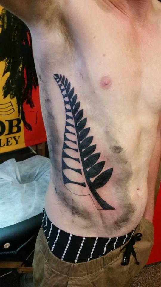 Silver Fern tattoo Artist: Ray  35 Ranfurly Street, The Old Mill, Kaiapoi Ray: 0277293000 Sarah: 0273591927