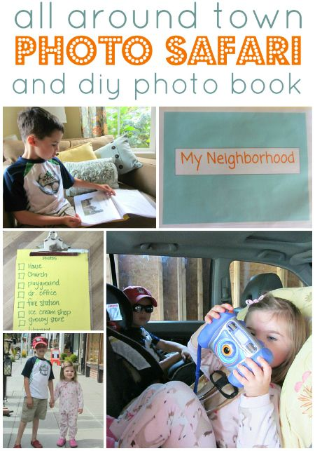 Hand your child your camera, go all around town and make a book about where you live.