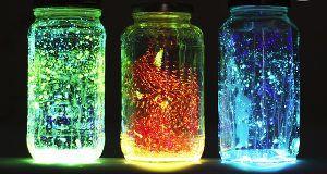 Floating Fairies Glow Jar