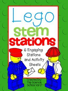 """This pack of SIX interactive Lego stations will have your engineers become excited about """"playing"""" with a purpose! Using NGSS science standards or FOSS Balance and Motion concepts or just to integrate simple science into your classroom day...you can use Legos to teach simple science concepts in a hands-on way!This pack includes:-set up and purpose page-pictures -Station Cards-Activity Cards-Reflections SheetsThe Six Stations Include:1."""