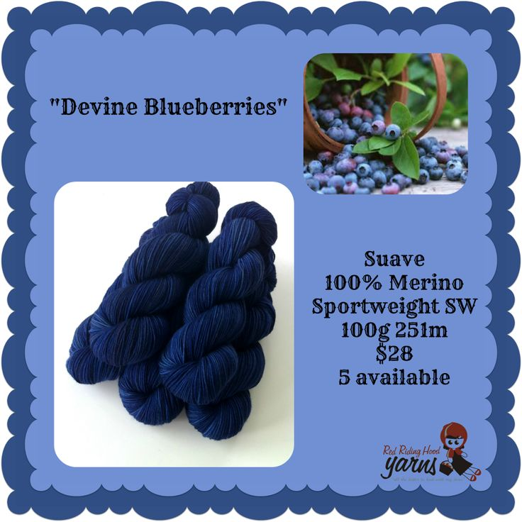 Devine Blueberries - Summerfruits Stocking | Red Riding Hood Yarns
