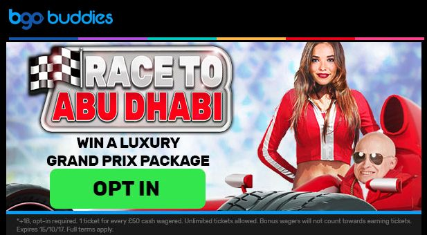 Win a luxury #GrandPrix Package in the Race to Abu Dhabi promotion at BGO #Casino- http://freeslotmoney.com/win-a-formula-1-abu-dhabi-grand-prix-package-at-bgo-casino-2/