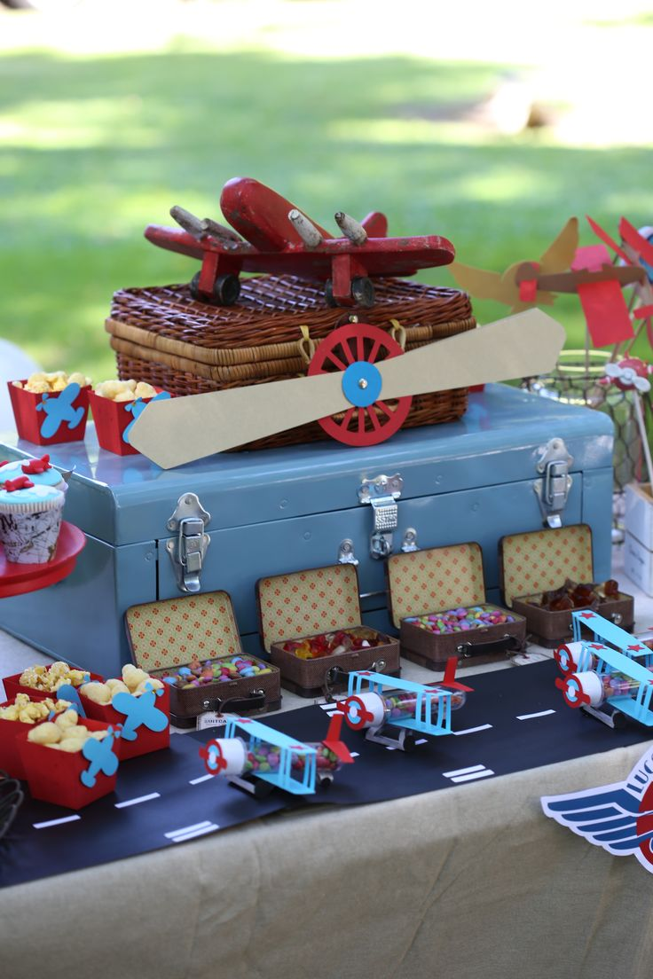 Airplane Party, Plane Party, Airplane Party Ideas, Garden airplane party…