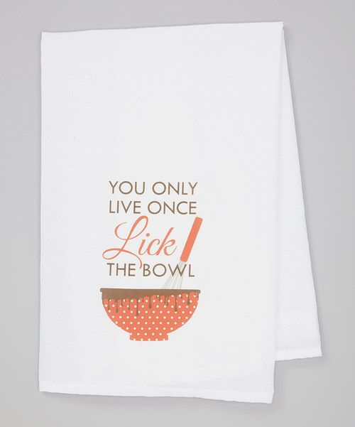 Take a look at the Red 'Lick the Bowl' Towel on #zulily today!