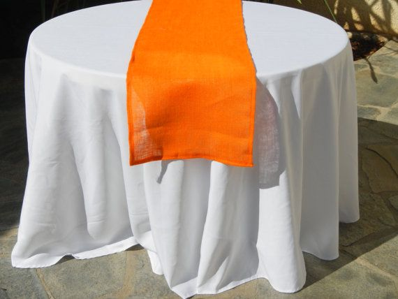 Burlap Table Runner Orange Burlap Runner By LolaRoseDesigns, $10.00
