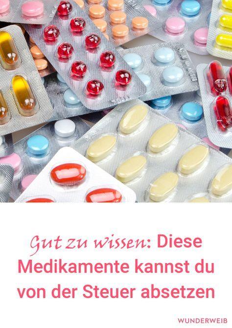 Diese Medikamente kannst du von der Steuer absetzen
