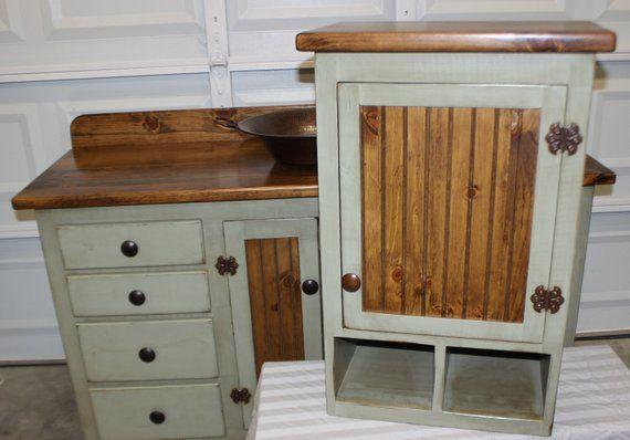 Rustic Farmhouse Vanity Copper Sink 60 Sage Green Etsy Bathroom Red Farmhouse Vanity Rustic Vanity