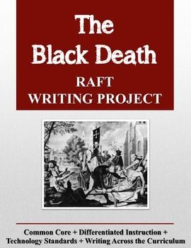 Would you like to enliven history with a fun, challenging writing project? The Black Death RAFT Writing Project contains a RAFT writing project for the social studies classroom.   This project may be used as a creative research project or as a summarizing assignment to end a unit of study on the Middle Ages or another aspect of European History.  What is a RAFT, you might ask? RAFT is an acronym that stands for Role, Audience, Format, and Topic.