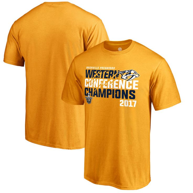 Nashville Predators Fanatics Branded 2017 Western Conference Champions Goal Tend T-Shirt - Gold