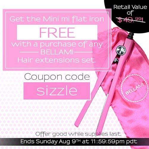 51 best bellami hair images on pinterest cosmetology coupon christmas came early this summer for a limited time get one free mini mi flat iron with your purchase of any bellami hair extension set pmusecretfo Gallery