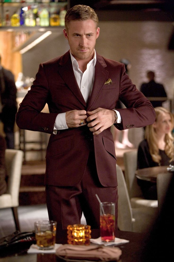 Shop this look for $175:  http://lookastic.com/men/looks/gold-pocket-square-and-white-dress-shirt-and-burgundy-blazer-and-burgundy-dress-pants/1256  — Gold Silk Pocket Square  — White Dress Shirt  — Burgundy Blazer  — Burgundy Dress Pants