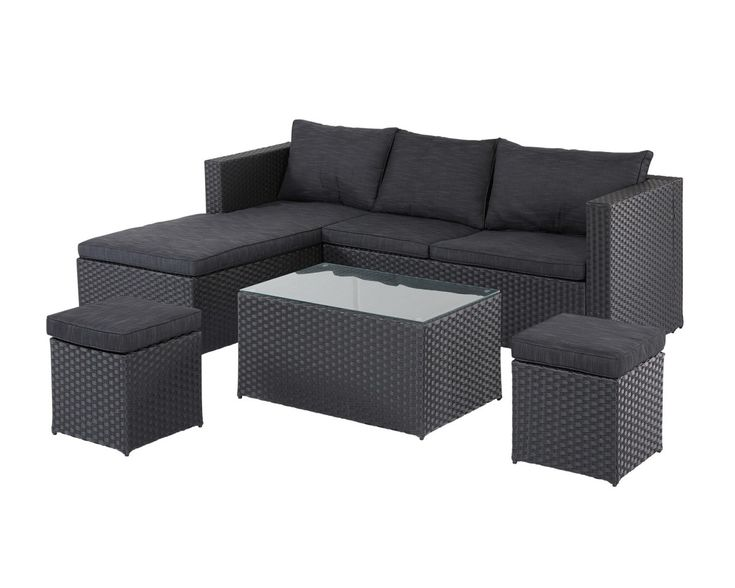 die besten 25 gartenm bel lounge set ideen auf pinterest schiefer dach terrassen layout und. Black Bedroom Furniture Sets. Home Design Ideas