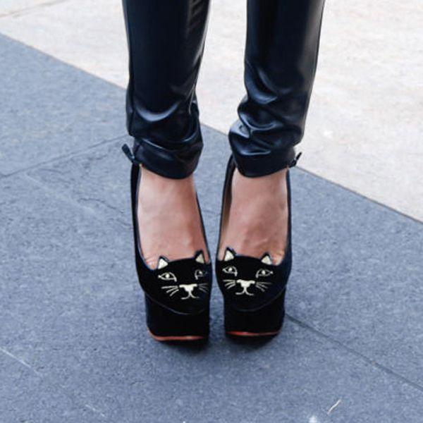 Meow. #NYFW Street Style #Shoes