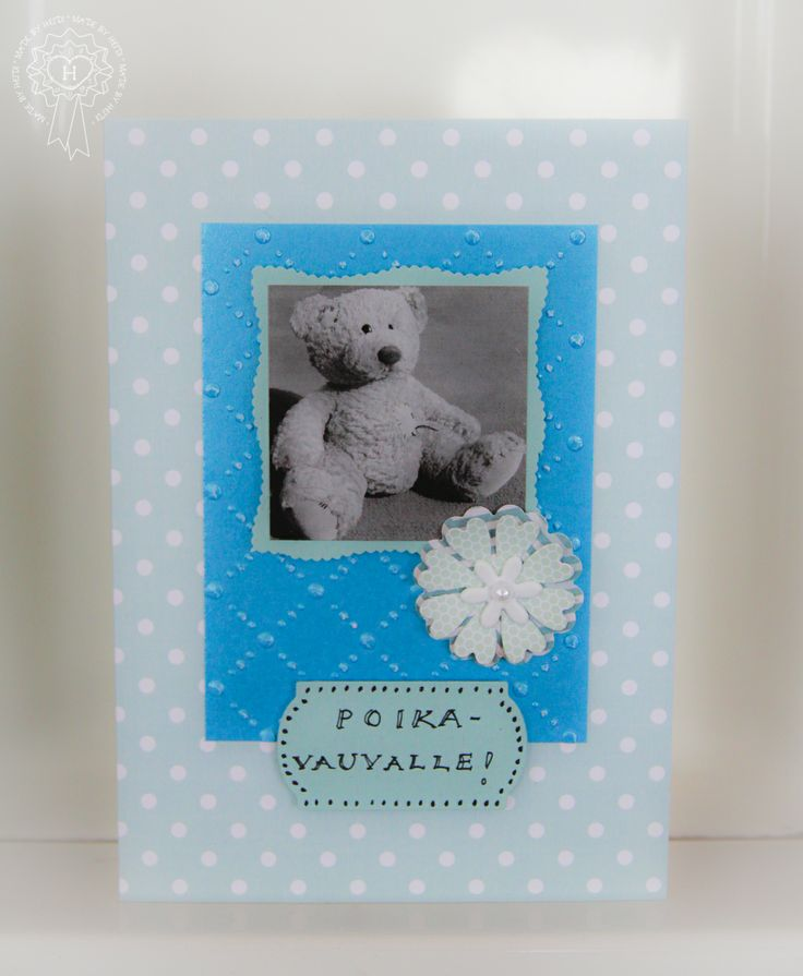 Kortti poikavauvalle / A card for baby boy