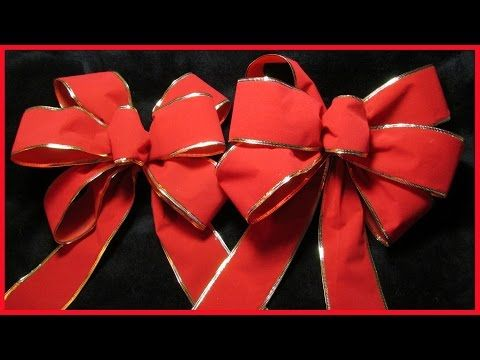 (16) How to make a decorative Christmas Bow No.1 - with subtitles - YouTube