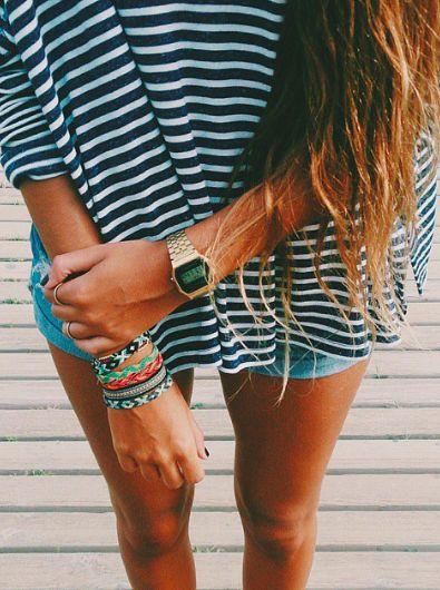 Summer Style Friendship bands bracelets multicolour Casio Watch